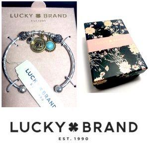 Lucky Brand ST Hammered Cuff Charm Bracelet